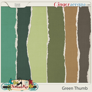 Green Thumb Torn Papers by The Scrappy Kat