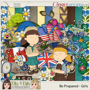 Be Prepared Girls Page Kit by K4K