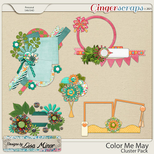 Color Me May Cluster Pack from Designs by Lisa Minor