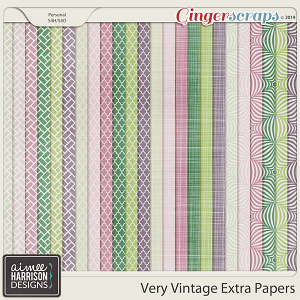 Very Vintage Extra Papers by Aimee Harrison