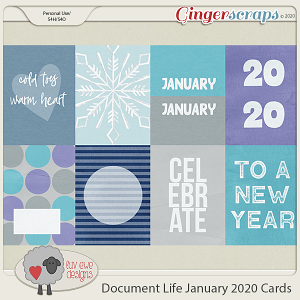 Document Life January 2020 Journal Cards by Luv Ewe Designs