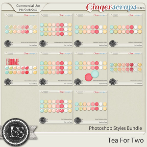 Tea For Two Photoshop Styles Bundle