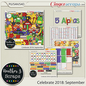 Celebrate 2018: September BUNDLE by Heather Z Scraps
