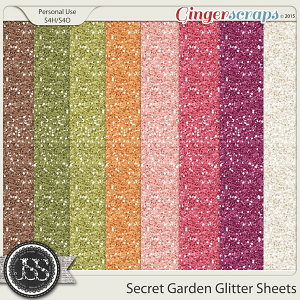 Secret Garden Glitter Sheets