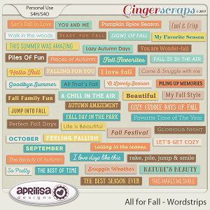 All For Fall - Wordstrips