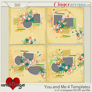 You and Me 4 Templates by CarolW Designs