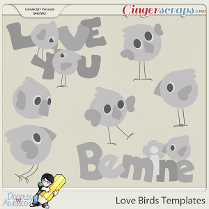 Doodles By Americo: Love Birds Templates