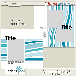 Random Pieces 23 Templates by Lindsay Jane