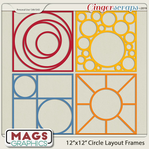 12x12 Circle Layout Frame Templates by MagsGraphics