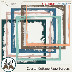 Coastal Cottage Page Borders by ADB Designs