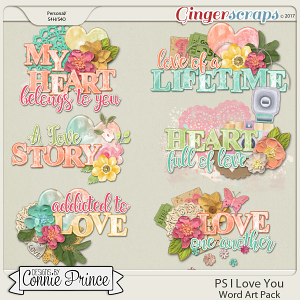 PS..I Love You - WordArt Pack