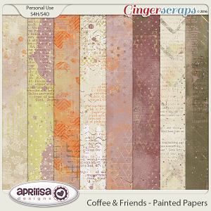 Coffee & Friends - Painted Papers