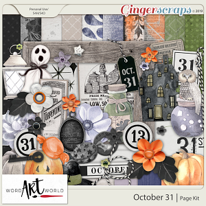 October 31 Page Kit