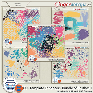 CU - Template Enhancers: Bundle of Brushes 1 by Miss Fish