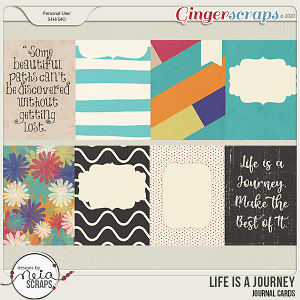 Life is a Journey - Journal Cards - by Neia Scraps