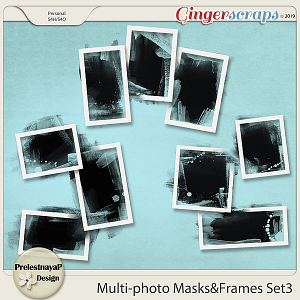 Multi-photo Masks&Frames Set3