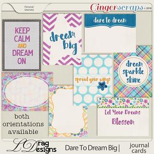DareTo Dream Big: Journal Cards by LDrag Designs