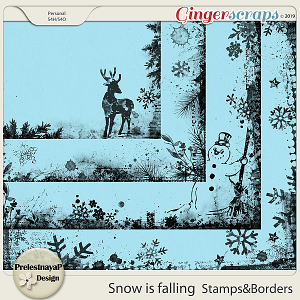 Snow is falling Stamps & Borders