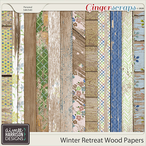 Winter Retreat Wood Papers by Aimee Harrison