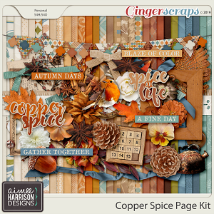 Copper Spice Page Kit by Aimee Harrison