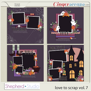 Love to Scrap Volume 7 Templates by Shepherd Studio