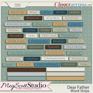 Dear Father Word Strips