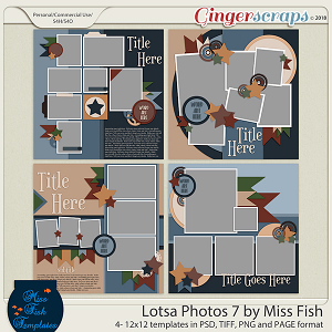 Lotsa Photos 7 Templates by Miss Fish