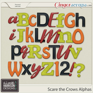 Scare the Crows Alpha Sets by Aimee Harrison