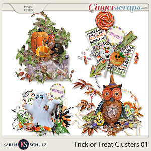Trick or Treat Clusters 1 by Karen Schulz