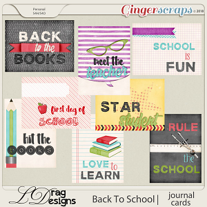 BackTo School: Journal Cards by LDrag Designs