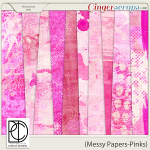 Messy Papers (Pinks)