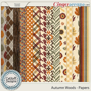 Autumn Woods - Papers