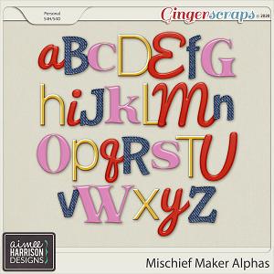 Mischief Maker Alpha Sets by Aimee Harrison