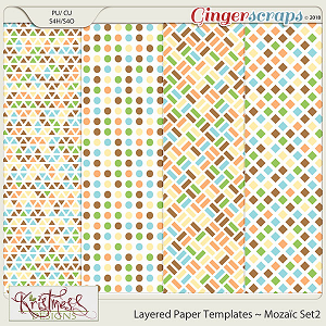 CU Layered Paper Templates ~ Mozaic Set2