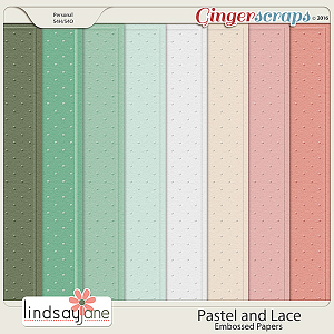 Pastel and Lace Embossed Papers by Lindsay Jane