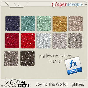Joy To The World: Glitterstyles by LDragDesigns
