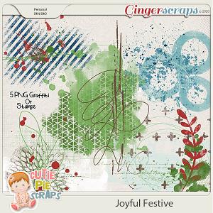 Joyful Festive Graffiti Stamps