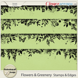 Flowers and Greenery Stamps & Edges