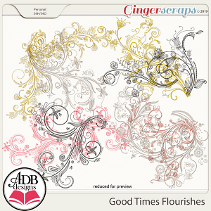 Good Times Flourishes by ADB Designs