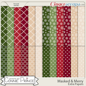 Masked & Merry - Extra Papers by Connie Prince