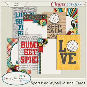 Sports: Volleyball Journal Cards