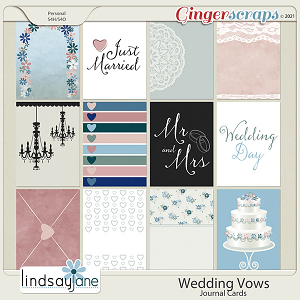 Wedding Vows Journal Cards by Lindsay Jane