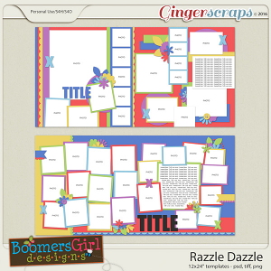 Razzle Dazzle Template Pack by BoomersGirl Designs