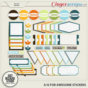 A Is For Awesome Stickers by JB Studio
