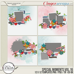 Special Moments- VOL.16 - Templates - by Neia Scraps