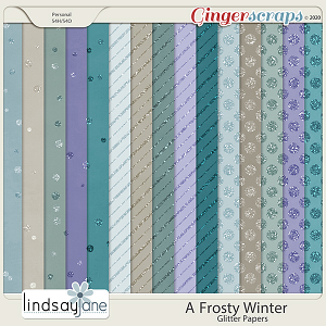 A Frosty Winter Glitter Papers by Lindsay Jane