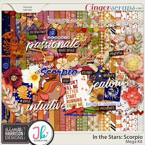 In the Stars: Scorpio Mega Kit by Aimee Harrison and Just Because Studio