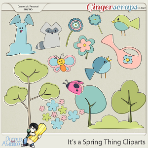 Doodles By Americo: It's a Spring Thing Cliparts