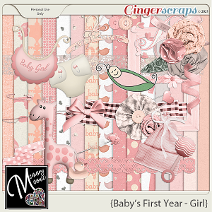 Baby's First Year - Girl by Memory Mosaic