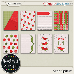 Seed Spittin' JOURNAL CARDS by Heather Z Scraps